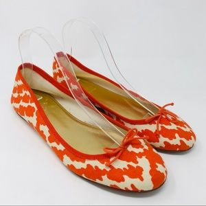 J Crew Italy Patterned Classic Ballet Flats Shoes